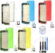 HOUSING BACK BATTERY COVER REAR CASE ASSEMBLY FOR IPHONE 5C + BUTTONS TOOLS NEW