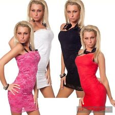 Womens Lace Dress Size 8 10 12 Sexy Party Club Wear Cocktail One Shoulder Design