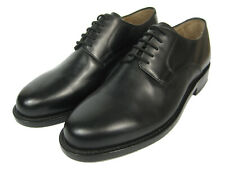 J.BRIGGS Leather Shoes Frame sewn Goodyear Welted plain Derby Leather sole black
