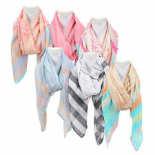 Women's Spring Summer Scarf Stripes and Circles summer scarf