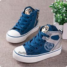 NEWFashion Kid'sBOYS Blue Sports Casual Canvas Sneakers Boots Shoes