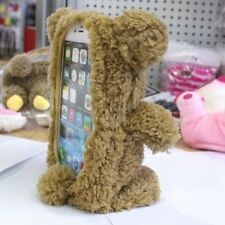 3D Cute Doll Toy Warm Plush Teddy Bear Cover Case For Samsung Smartphone S6 Edge