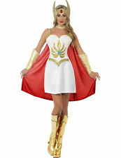 Adult Womens She-Ra Deluxe Super Hero Fancy Dress Costume Ladies