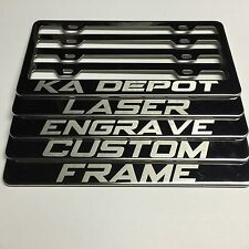 New Custom Personalized Laser Engrave Polish License Plate Stainless Steel Frame