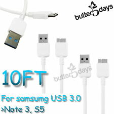 NEW 10ft USB 3.0 Data Charger Cable Cord Sync For Samsung Galaxy S5 Note 3