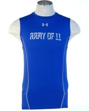 Under Armour Blue Army Of 11 Football Sleeveless Compression Shirt Mens NWT