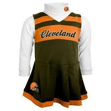Cleveland Browns NFL Toddler Girls Cheer Jumper Dress Set w/ Turtleneck