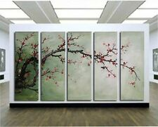 Cherry Blossom 5pc Abstract Hand Painted on Canvas Wall DECOR Art Oil Paintings