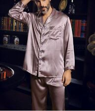 Mens Silk Satin Pajamas Pyjamas Set Sleepwear  Loungewear S~4XL Plus Size  p&p