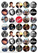 35 x THE VAMPS ROUND EDIBLE FAIRY CUPCAKE TOPPERS EDIBLE WAFER CARD RICE PAPER
