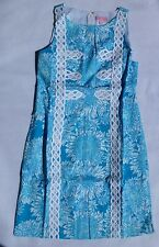 New Lilly Pulitzer 0 2 10 Mirabelle Boatneck Shift Dress Blue Lion In The Sun