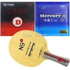 Galaxy N-9 Blade with Galaxy 9000D /Mercury II Rubbers for a table tennis racket