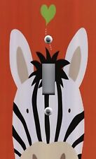 Light Switch Plate & Outlet Covers KID'S ROOM DECOR ~ PEEK A BOO ZEBRA HEART