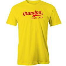 grandpa Since 2014 T-Shirt Grand Dad Father Daddy Gift Idea Day Tee New