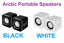 Arctic S111 Compact Stereo Speaker USB Powered 4W RMS 3.5mm Jack PC MP3 Laptop
