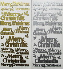 Merry Christmas Style 2 PEEL OFF STICKERS Holly Various Sizes