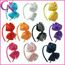 New Arrival Sequin Popular Hair Bow Hair Band,Hair Accessories Band For Girls