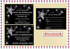 18,21,30,40,5Oth Party Invitations Personalised /  Thank You Cards X 10 Pk + Env