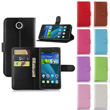 Flip Leather Wallet Case Cover Pouch For Huawei  Y635