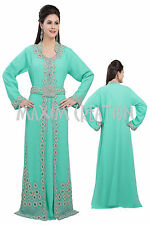 EXCLUSIVE JILBAB ARABIAN FANCY GEORGETTE CAFTAN MOROCCO ISLAMIC DRESS  5175