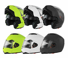 NEW MODULAR FLIP UP FRONT MOTORCYCLE CRASH HELMET - MOTORBIKE SCOOTER DUAL VISOR