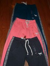 VICTORIAS SECRET PINK LIMITED EDITION MARLED DOG BOYFRIEND SWEATPANTS CHOICE NWT