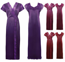 LADIES LONG NIGHTDRESS NIGHTIE LOUNGER WOMENS NIGHTWEAR SET 8-14