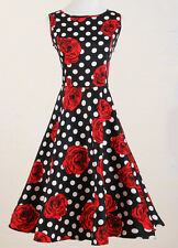 woman rockabilly clothing 1950's swing dance rock n roll rose full circle skirt