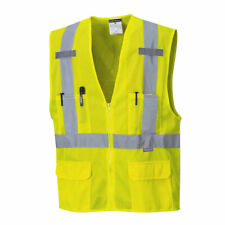 Hi-Vis Vest Mesh Safety Work High-Visibility ANSI Class 2, M-5XL, Portwest US370