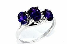 2 Ct Amethyst Oval Ring .925 Sterling Silver