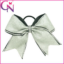 Rhinestone Bling Boutique Popular Cheerleading Cheer Bow With Elastic Band