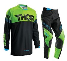 Thor 2016 Youth Phase Hyperion Gear Set Green Motocross Kids Pants + FREE JERSEY