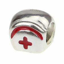 Authentic 925 Sterling Silver Nurse Hat Charm