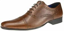 Red Tape Slade Tan Brown Lace Up Brogues Formal Office Leather Mens Office Shoes