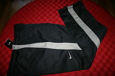 MENS NIKE THERMA-FIT ATHLETIC PANTS BLACK & GRAY POCKETS XL SMALL BUNGEE NWT