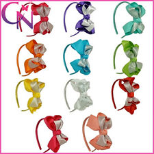 Organza,Grosgrain Ribbon Knot Handmade Hair Bow Hair Band Headband For Girls