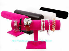 Velvet T-Bar Jewelry Rack Bracelet Necklace Stand Organizer Holder Display UK