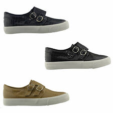 New Womens Ladies Glossy Snake Skin Velcro Slip On Casual Trainer Shoe Size 3-8