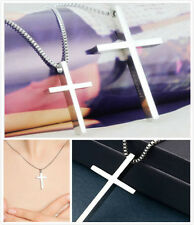 Style Stainless Steel Cross Pendant Mens Women Couple Lover Necklace Gift Hot201