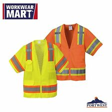 High-Visibility Safety Vest Sleeved Hi Vis Class 3 Reflective, Portwest US373