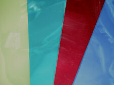 Coloured Acetate Sheets Clear Film Transparent A4 SHEET 240 Microns