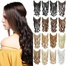 """22"""" 50g Invisble Fish Line Long Wavy Curl Synthetic Hair Extensions Hair pieces"""