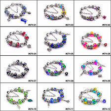 Fashion European Style Charm Crystal Murao Glass Beads Bracelet Gift for friend