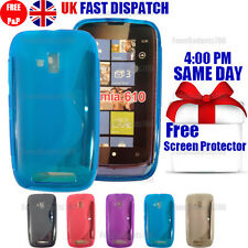 GRIP S-LINE SILICONE GEL CASE & FREE SCREEN PROTECTOR FITS NOKIA LUMIA 610