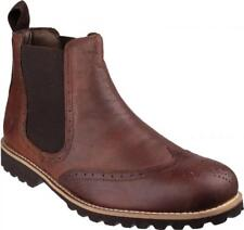 Cotswold ABBEYMEAD Mens Leather Twin Gusset Comfort  Dealer Chelsea Boots Brown
