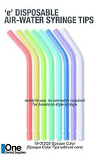 Dental Disposable Air-Water Syringe Color Tips Coreless Design 250 pcs