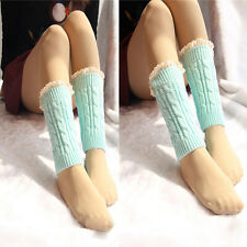 Fashion Girl Lovely  Warmers Socks Knitted Lace Trim Boot Cuffs Toppers Nice
