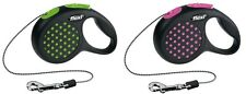 Pet Dog Flexi DESIGN Retractable Leash Cord Lead XS 3M Up to 8 Kg - Green & Pink