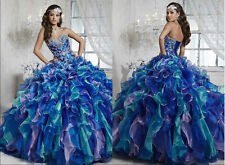 Beaded Quinceanera Dresses Bridal Ball Gown Prom Formal dresses Size Custom Made