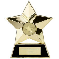 """4.75"""" Cast Metal Plaque Trophy in 3 Colours with free engraving up to 30 Letters"""